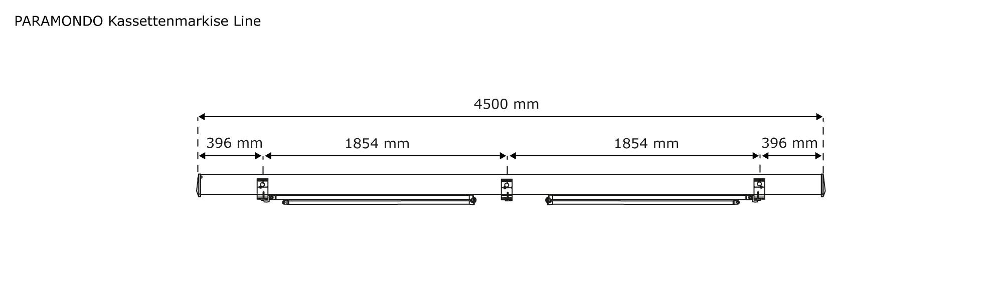Markise-Kassettenmarkise-Sonnenschutz-elektrisch-4-50x3-m-Line-paramondo-B-Ware Indexbild 10