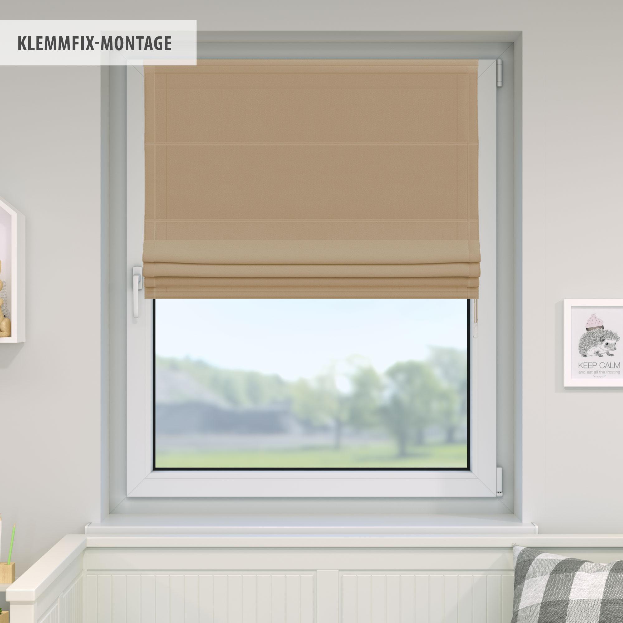 Raffrollo-Faltrollo-Klemmfix-ohne-Bohren-Fenster-Raffgardine-Gardine-VICTORIA-M Indexbild 9