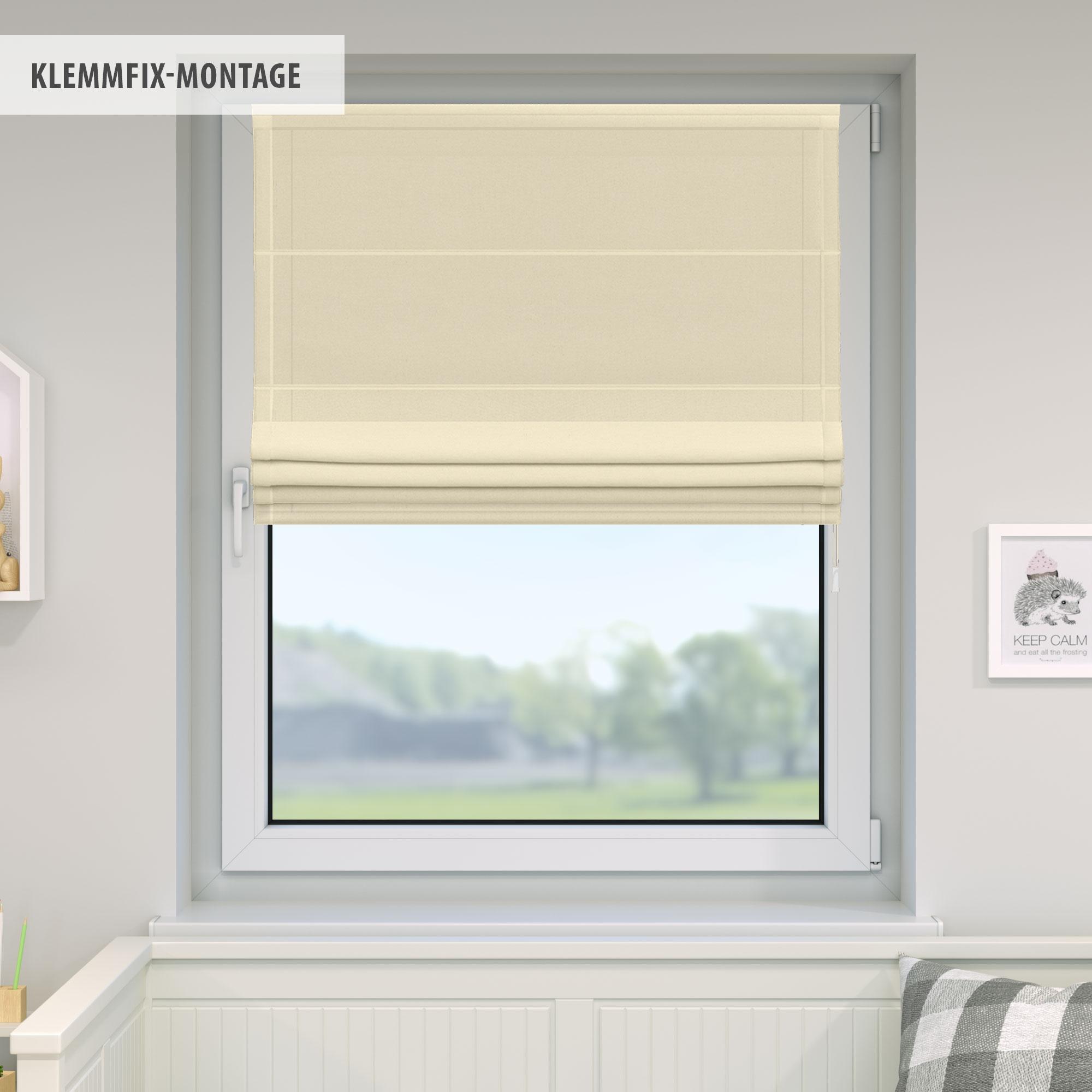 Raffrollo-Faltrollo-Klemmfix-ohne-Bohren-Fenster-Raffgardine-Gardine-VICTORIA-M Indexbild 33