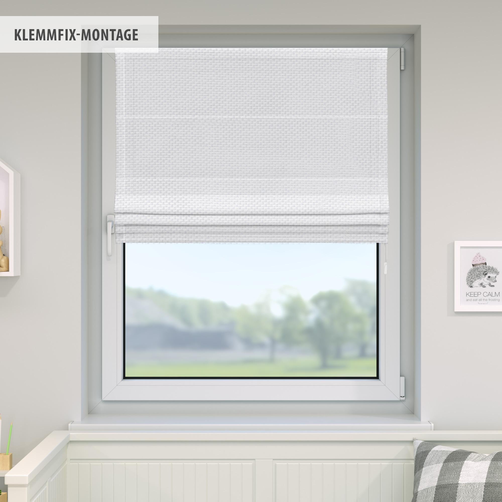 Raffrollo-Faltrollo-Klemmfix-ohne-Bohren-Fenster-Raffgardine-Gardine-VICTORIA-M Indexbild 25