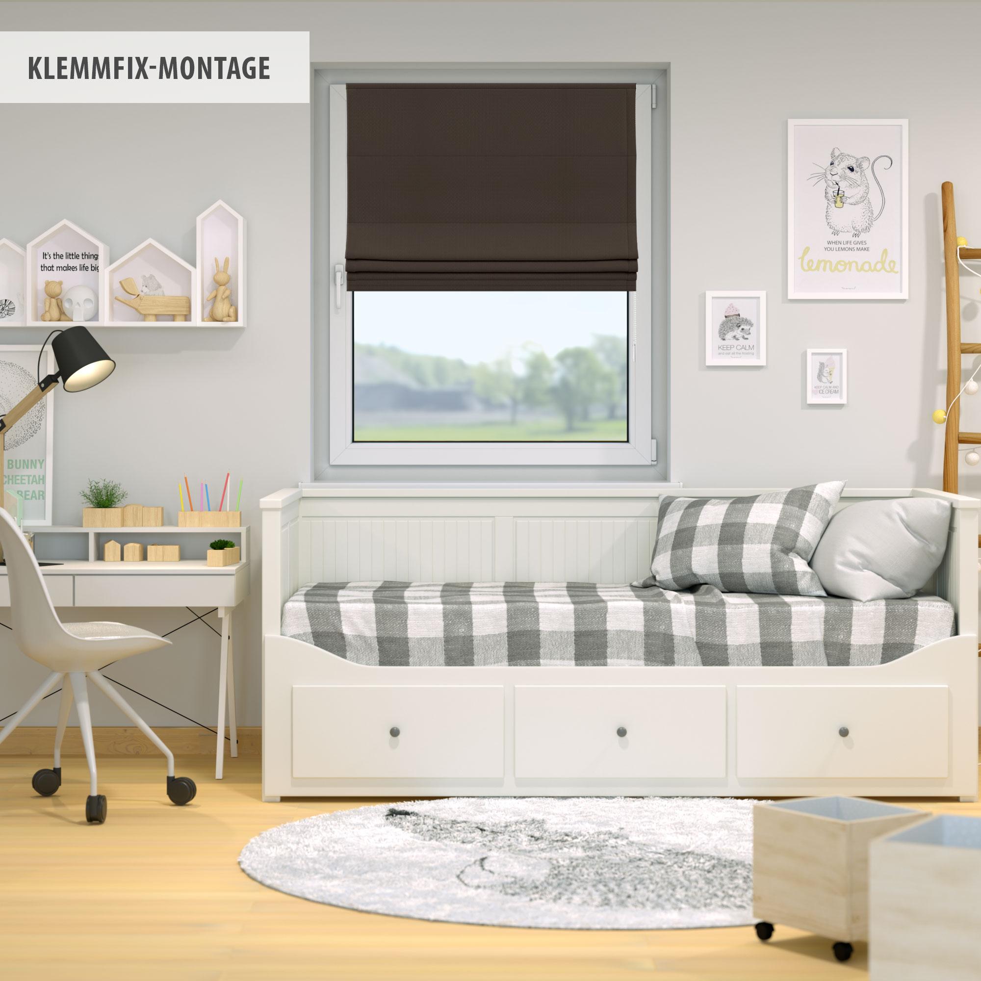 Raffrollo-Faltrollo-Klemmfix-ohne-Bohren-Fenster-Raffgardine-Gardine-VICTORIA-M Indexbild 19