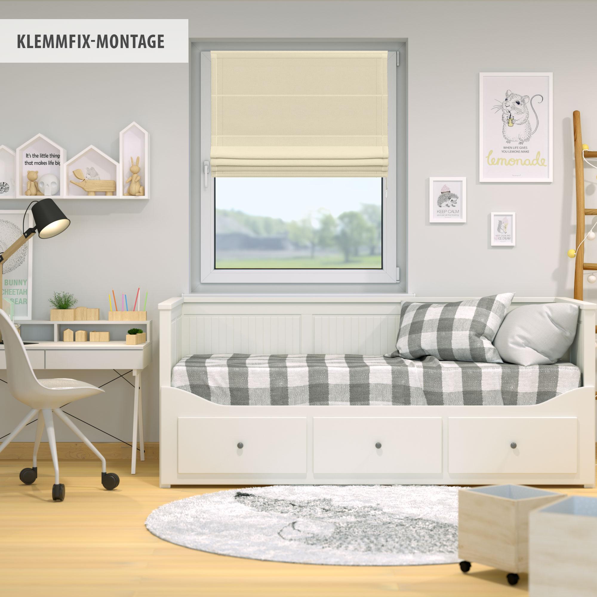 Indexbild 35 - Raffrollo-Faltrollo-Klemmfix-ohne-Bohren-Fenster-Raffgardine-Gardine-VICTORIA-M