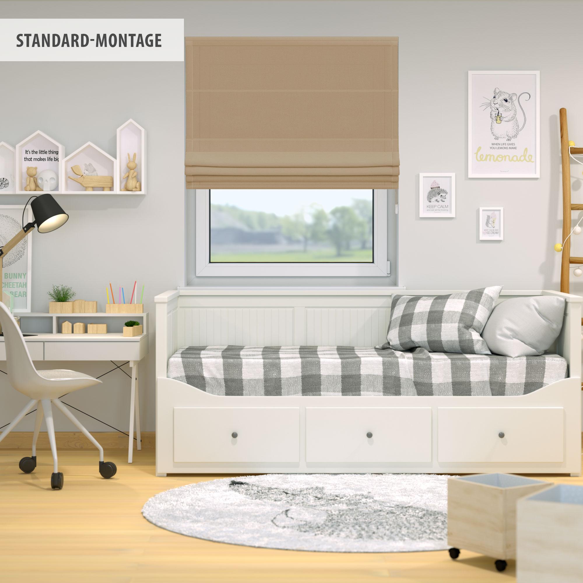 Indexbild 12 - Raffrollo-Faltrollo-Klemmfix-ohne-Bohren-Fenster-Raffgardine-Gardine-VICTORIA-M