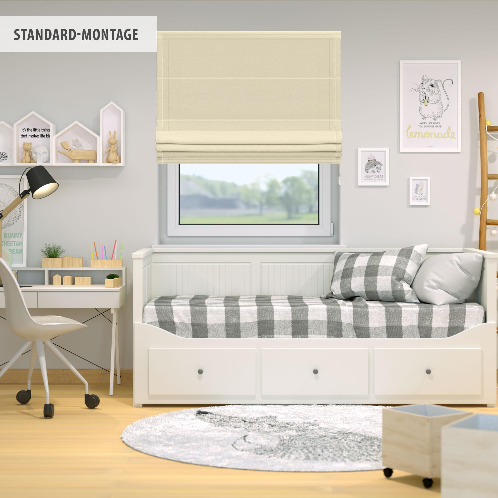Raffrollo-Faltrollo-Klemmfix-ohne-Bohren-Fenster-Raffgardine-Gardine-VICTORIA-M Indexbild 36
