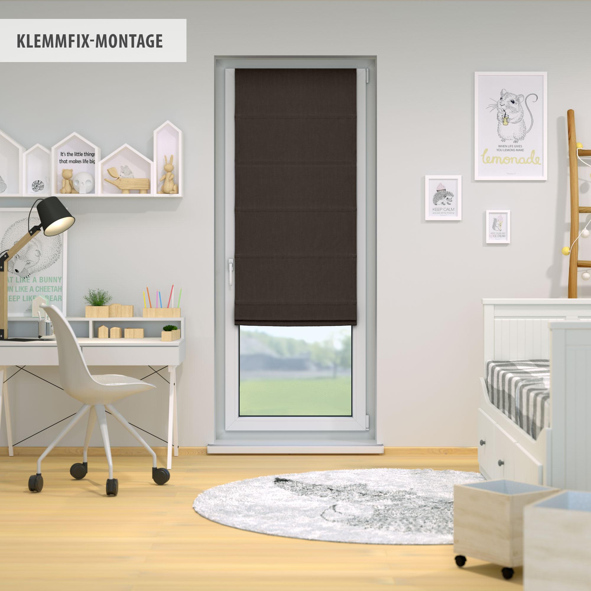 Raffrollo-Faltrollo-Klemmfix-ohne-Bohren-Fenster-Raffgardine-Gardine-VICTORIA-M Indexbild 21