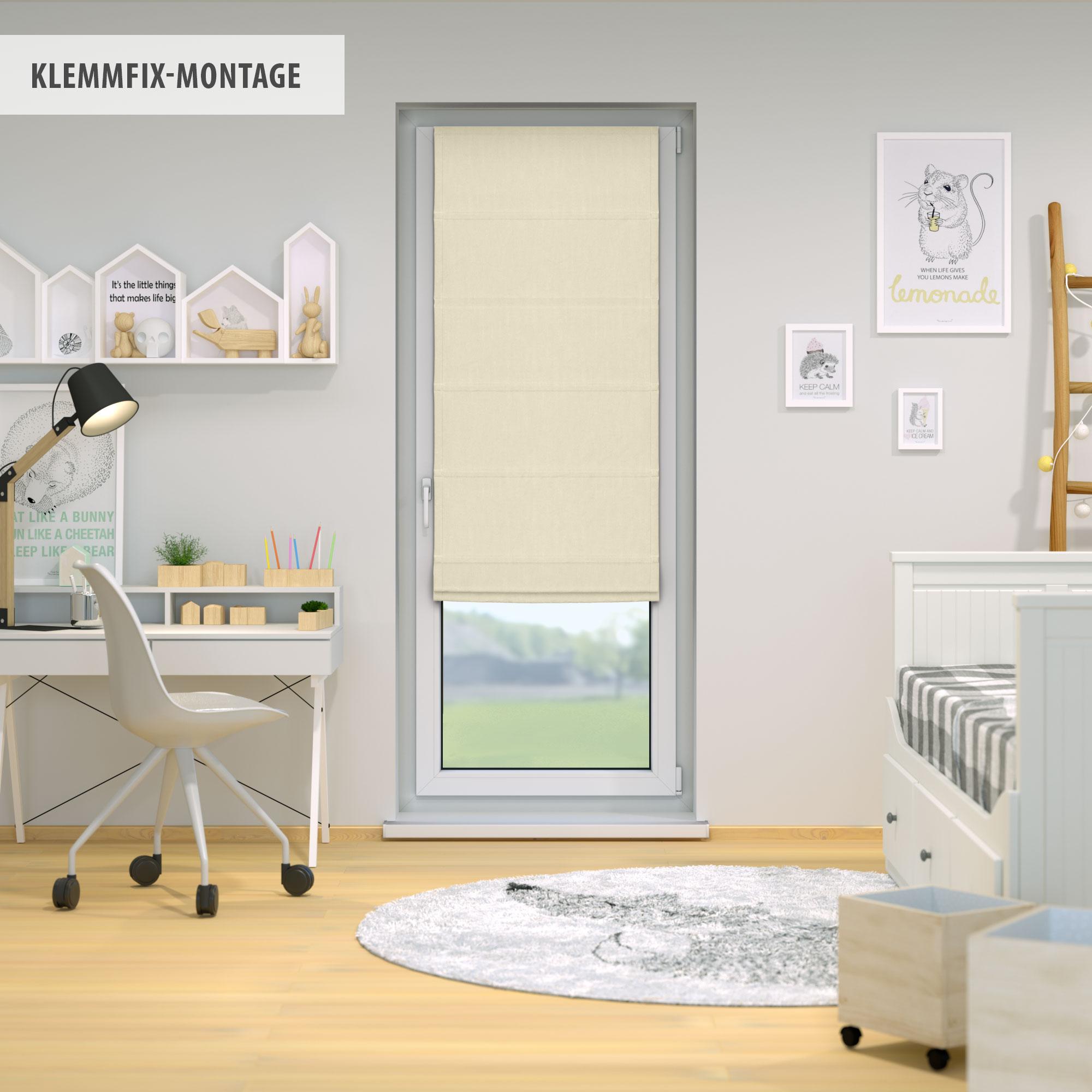 Raffrollo-Faltrollo-Klemmfix-ohne-Bohren-Fenster-Raffgardine-Gardine-VICTORIA-M Indexbild 37