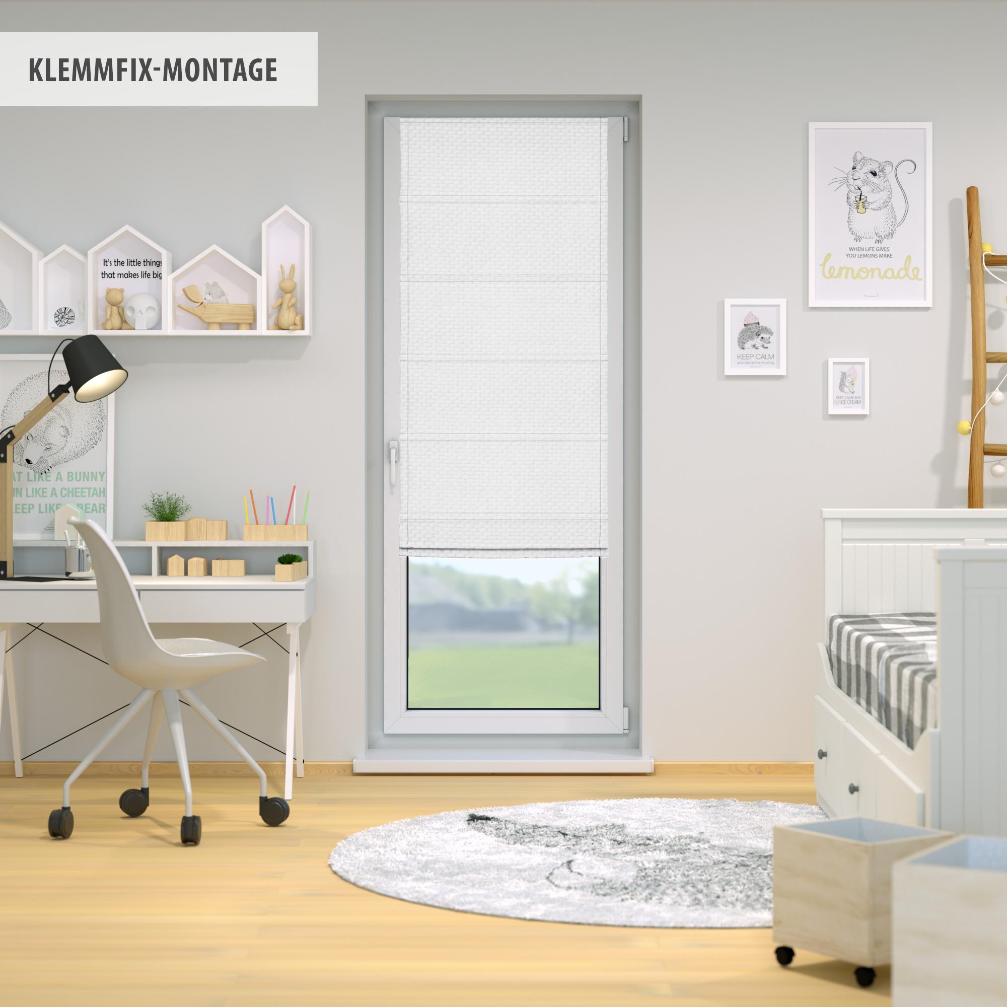 Raffrollo-Faltrollo-Klemmfix-ohne-Bohren-Fenster-Raffgardine-Gardine-VICTORIA-M Indexbild 29