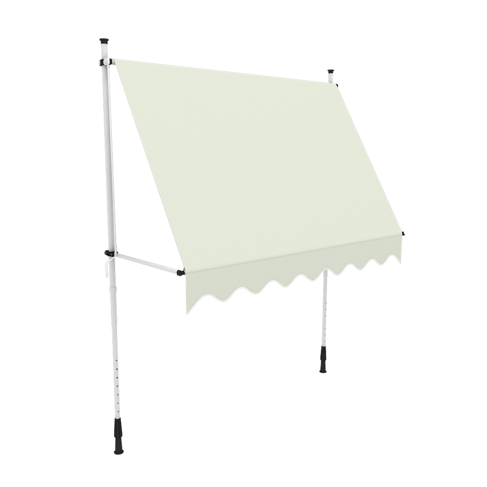 Markise-Balkon-Klemmmarkise-Sonnenschutz-295x120cm-Creme-ohne-Bohren-B-Ware