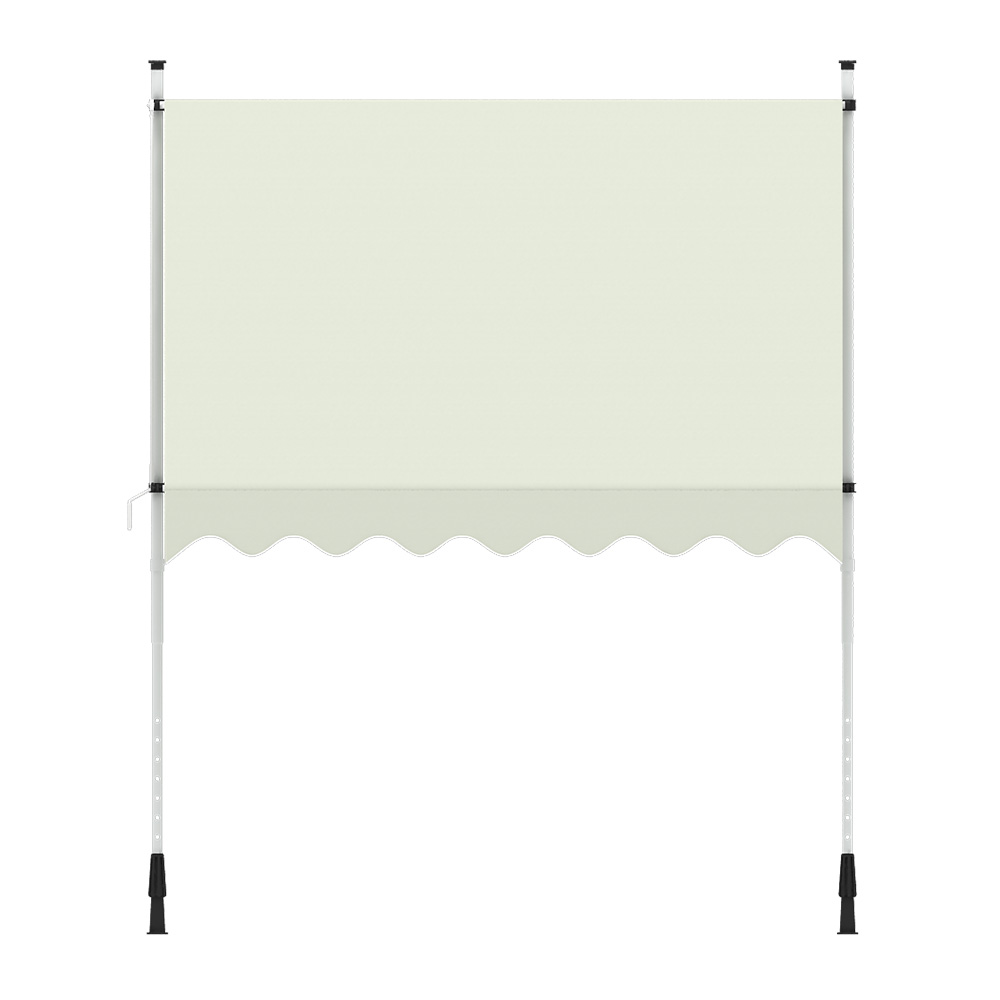 Indexbild 10 - Markise-Balkon-Klemmmarkise-Sonnenschutz-295x120cm-Creme-ohne-Bohren-B-Ware