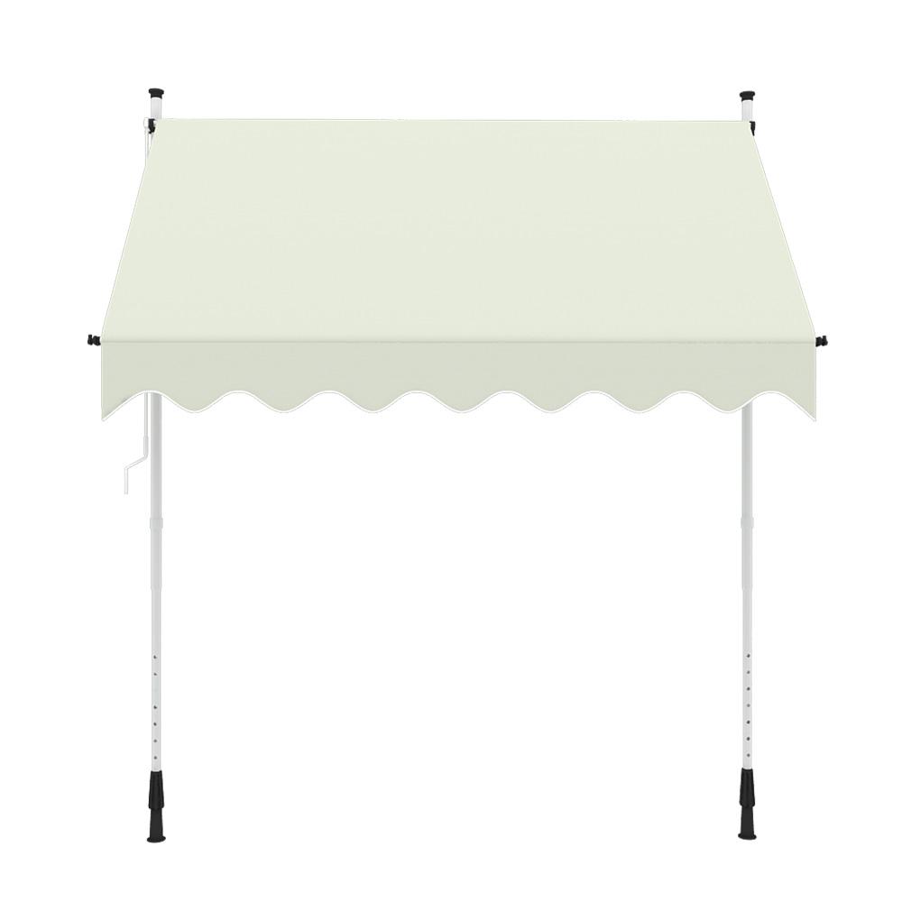 Indexbild 11 - Markise-Balkon-Klemmmarkise-Sonnenschutz-295x120cm-Creme-ohne-Bohren-B-Ware