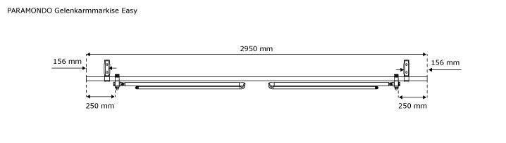 Markise-Sonnenschutz-Gelenkarmmarkise-Balkon-Handkurbel-295x200cm-Beige-B-Ware Indexbild 5
