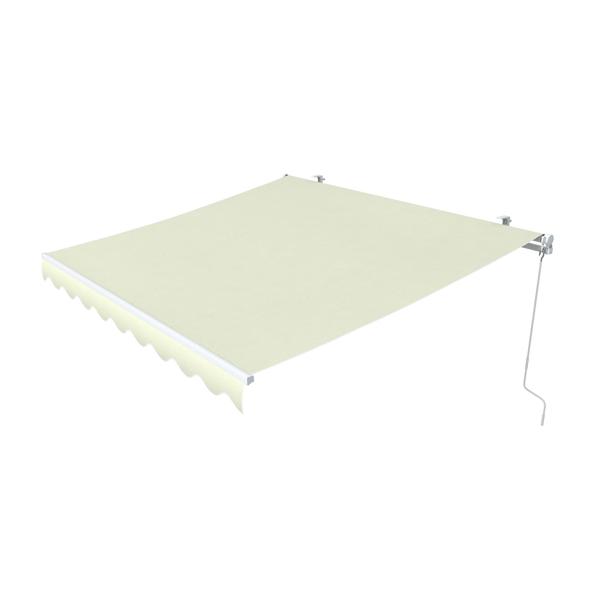 Markise-Sonnenschutz-Gelenkarmmarkise-Balkon-Handkurbel-295x200cm-Beige-B-Ware