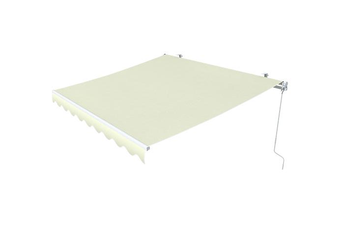 Markise-Sonnenschutz-Gelenkarmmarkise-Balkon-Handkurbel-295x200cm-Beige-B-Ware Indexbild 8